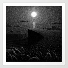 Drawlloween 2016: Moon Art Print