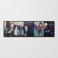 teen wolf Canvas Prints featuring Teen Wolf by callahaa