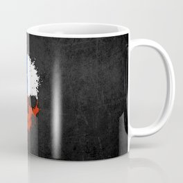Flag of Chile on a Chaotic Splatter Skull Coffee Mug