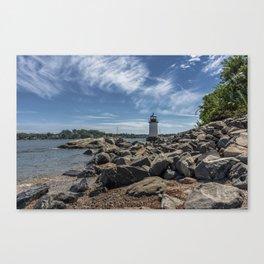 Winter Island Lighthouse Canvas Print