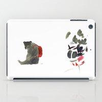 backpack iPad Cases featuring Backpack by Saara Kaa