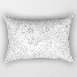 Zen Doodle 3A Snow White Rectangular Pillow