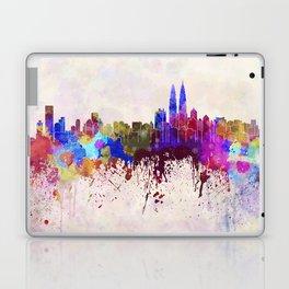 Kuala Lumpur skyline in watercolor background Laptop & iPad Skin