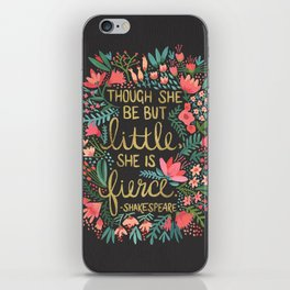 Little & Fierce on Charcoal iPhone Skin