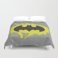 bat man Duvet Covers featuring Bat Man by Some_Designs