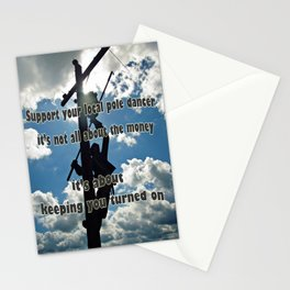 Support your Lineman Stationery Cards