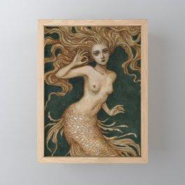 Mermaid with a pearl Framed Mini Art Print