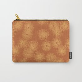 Orange Nasturtium Seamless Patten Carry-All Pouch