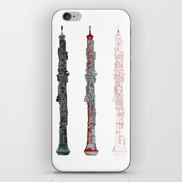 Trois Hautbois - Red iPhone Skin