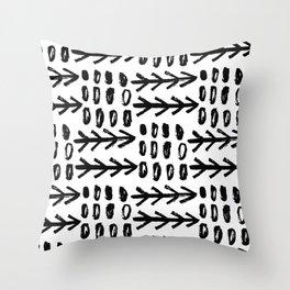 Hand Drawn Arrows Throw Pillow