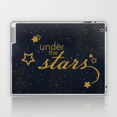 Under the stars- sparkling night typography Laptop & iPad Skin
