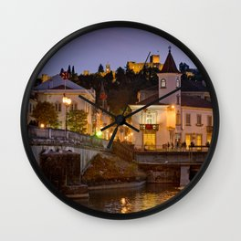 Tomar town centre, Portugal Wall Clock