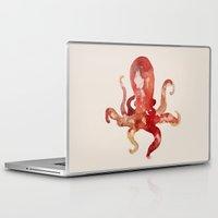 custom Laptop & iPad Skins featuring octo by Okti