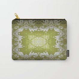 Kaleidoscope No.48 - Olivine Damask Carry-All Pouch