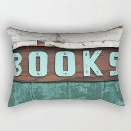 Rustic Aqua Birch Bark Book Art Rectangular Pillow