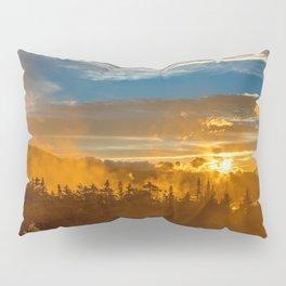 Misty Gold Mountain Sunset Pillow Sham