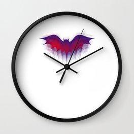 Halloween bat silhouette bats bats Wall Clock