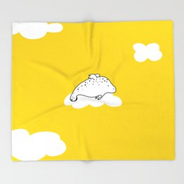 Flying Manatee by Amanda Jones Throw Blanket