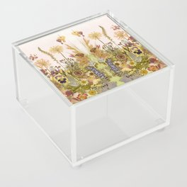 Pink Garden mirrored Acrylic Box