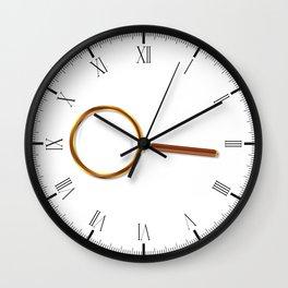 Brass Magnifying Glass Wall Clock