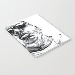 Digital Drawing 33 - Notorious B.I.G. Black and White Notebook