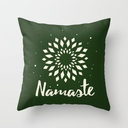 Namaste Mandala Flower Power Throw Pillow