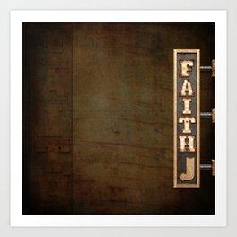 FAITH BILLBOARD Art Print