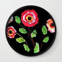 Dynamic Blossoms Wall Clock