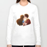 zuko Long Sleeve T-shirts featuring Zutara cute kiss by Amourinette