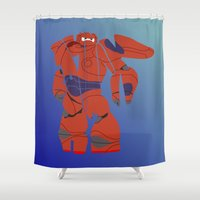 baymax Shower Curtains featuring baymax armour by pokegirl93