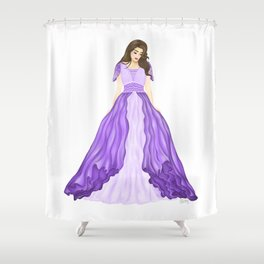 The Purple Dress Shower Curtain