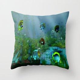 Fish Tank Aquarium Throw Pillow