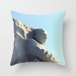 Martin Luther King Junior Memorial Throw Pillow