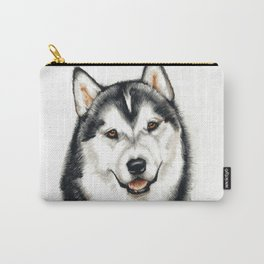Portrait of a Husky Dog Carry-All Pouch