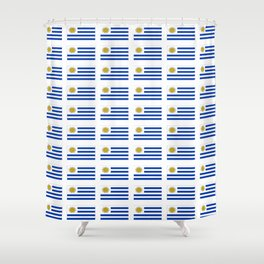 flag of Uruguay 2 -Uruguyan,montevideo,spanish,america,latine,Salto,south america,paysandu,costa,sun Shower Curtain
