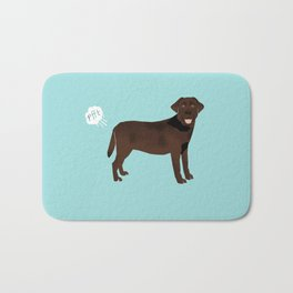 Chocolate Lab funny fart dog breed gifts labrador retrievers Bath Mat