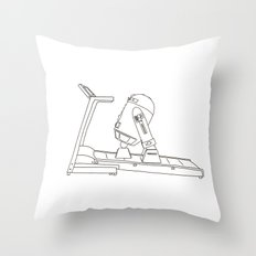 R2D2 black and white Throw Pillow