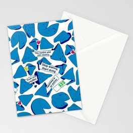 Blue Fortune Cookies Stationery Cards