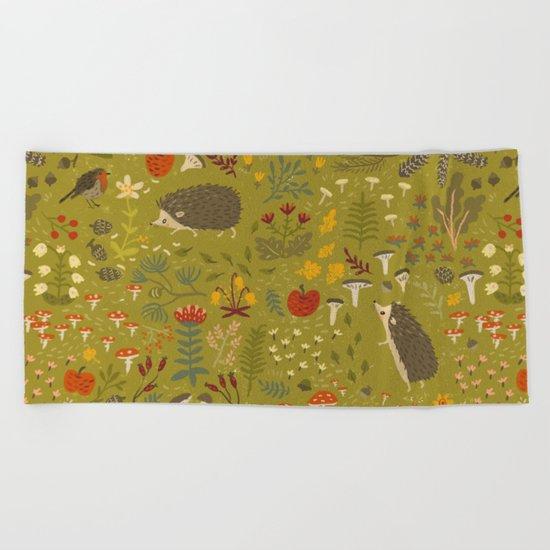 Hedgehog Meadow Beach Towel