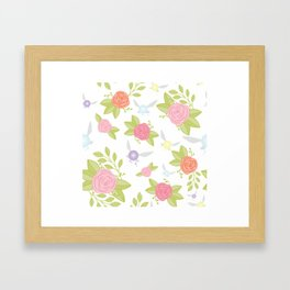 Garden of Fairies Pattern Framed Art Print