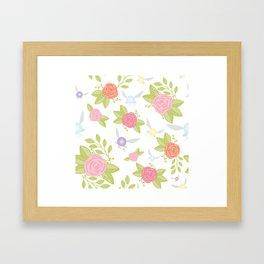 Garden of Fairies Pattern Framed Art Print
