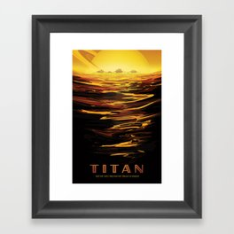 NASA Retro Space Travel Poster #12 - Titan Framed Art Print