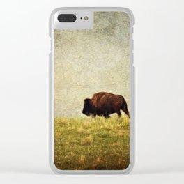 Lone Buffalo Clear iPhone Case