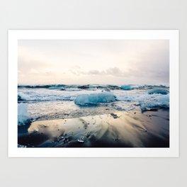 Diamond Beach, Iceland 2 #photography #iceland Art Print