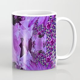 EXOTIC AMETHYST FEBRUARY  FLORAL FANTASY  ABSTRACT Coffee Mug