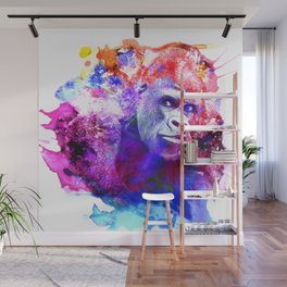 Gorillas are some of the most powerful and striking animals Wall Mural