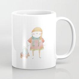 Bird Elf with a Gift Coffee Mug