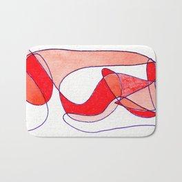 Orange Drift Bath Mat