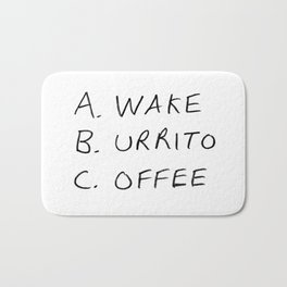 Breakfast Coffee ABC Bath Mat