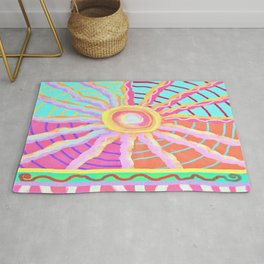 Sunspot Abstract Digital Painting Rug